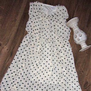 Disney girls size 10 12 polka dot medium med black
